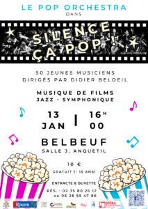 Le POP ORCHESTRA en concert à Belbeuf le 13 janvier 2019